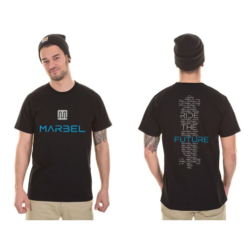 T-shirt for the World's lightest electric vehicle. The Marbel Electric Skateboard.