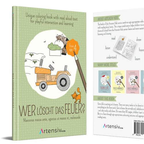 Artensiv Coloring Books Covers