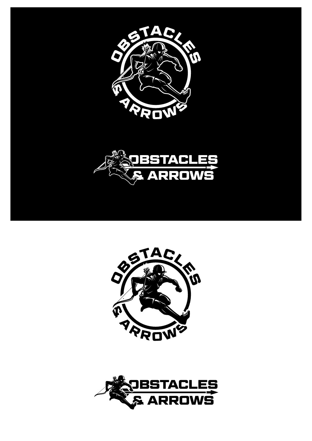 Design a logo for guys who like to run in the mud and shoot arrows!