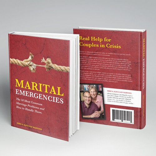"""Create a book cover for our upcoming book, """"Marital Emergencies"""""""