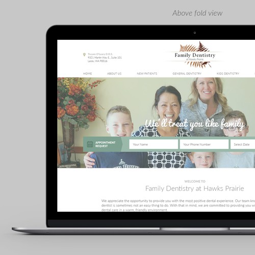 Brighter Look website for a Family Dentist