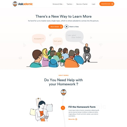 Online Tutoring Web Design
