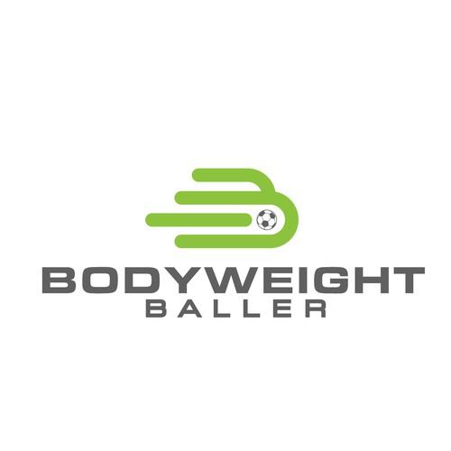 bold ,sophiscated logo for bodyweight baller
