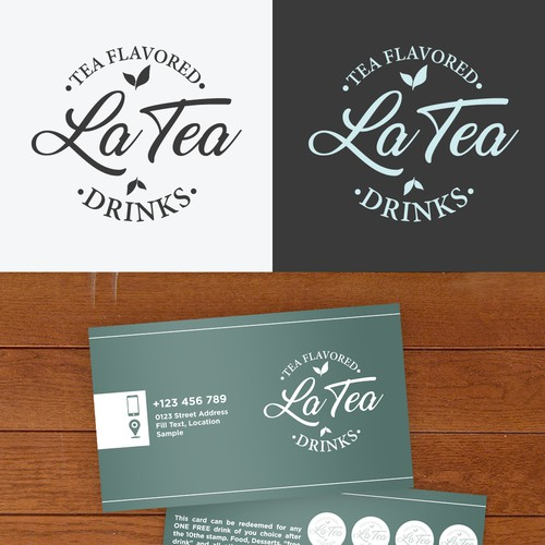 Logo for a tea flavoured drink company