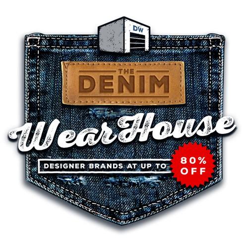 Bold Fashion Logo for denim jeans business