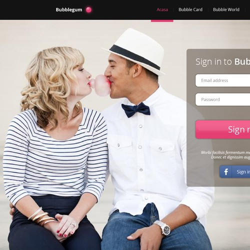 Will you be the lead designer of a the new dating website that will blow everybody away?