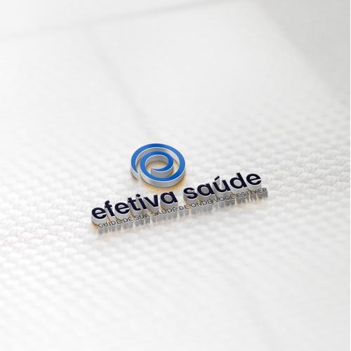 Efetiva Saúde modern logo design