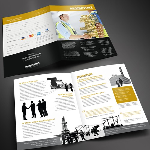 Create a winning brochure design for Projectory