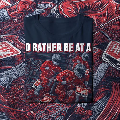 Graphic intense shirt illustration for flat track racing