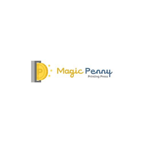 Logo Concept for magic penny press