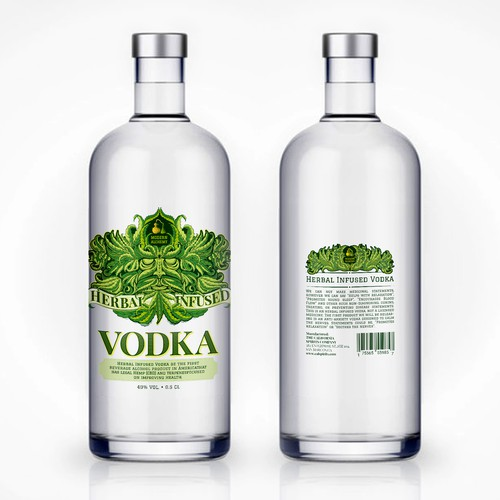 Label for hemp's vodka