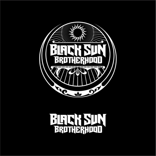 bold logo for black metal band