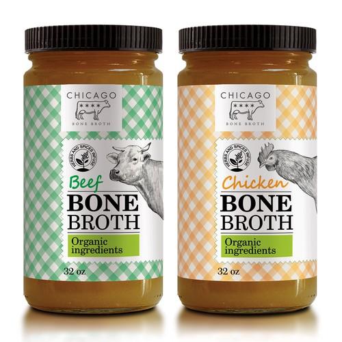 label design for bone broth