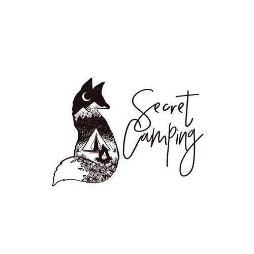 Logo for Secret Camping