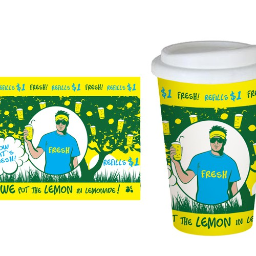 design my cup logo for my amazingly fresh lemonade!