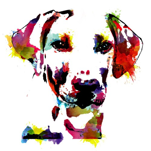 Dog Bright Water Colors
