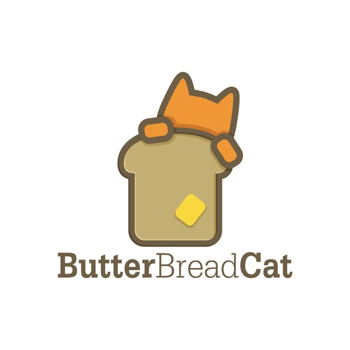 Butter Bread Cat - iconic logo