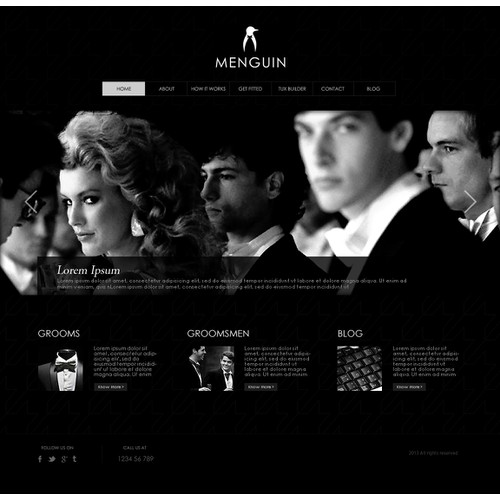 New website design wanted for Menguin.com