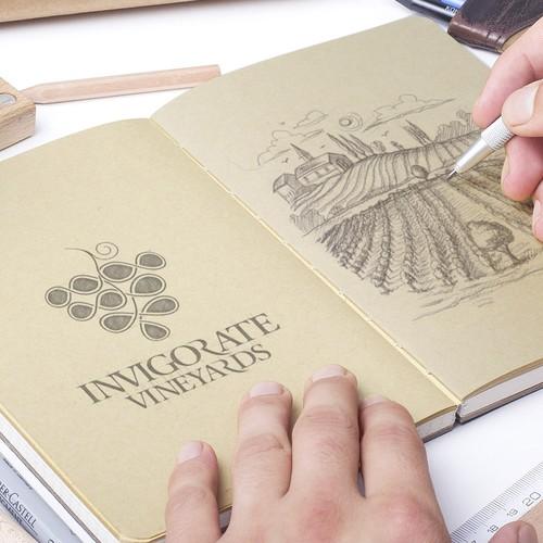 Logo for Invigorate Vineyards winery
