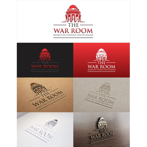 Create a professional new logo design for The War Room Marketing consultancy