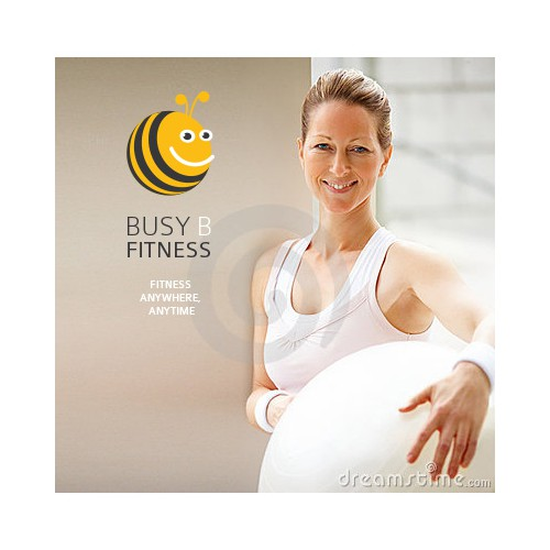 Create the next logo and business card for BusyBFitness (pronounced Busy Bee Fitness)
