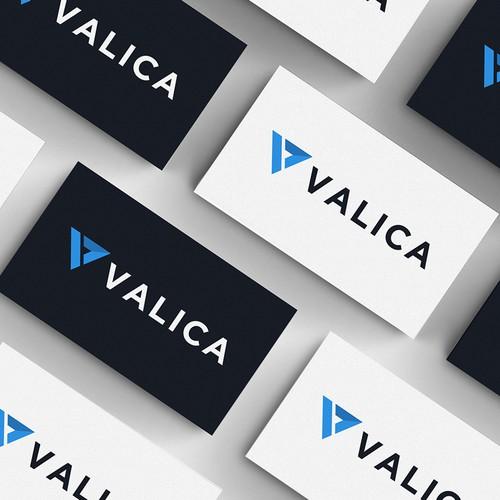 Technology logo design concept for valica