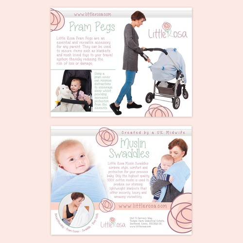 Leaflet for Baby product (Little Rosa)