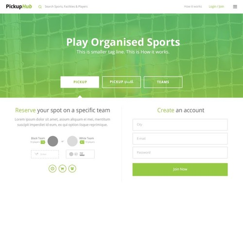 PickupHub Web Design
