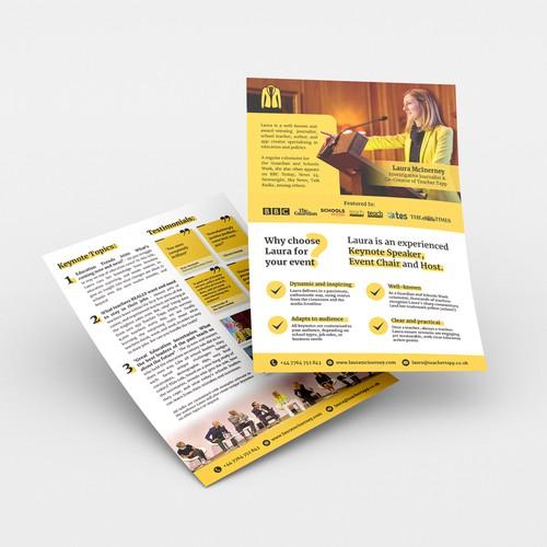 Leaflet for speaking business