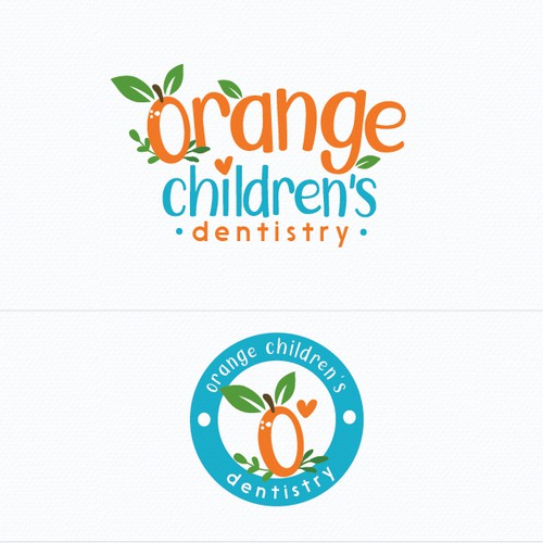 Fun and happy children's dentist logo