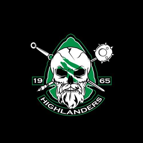"""Logo concept for """"Highlanders""""."""