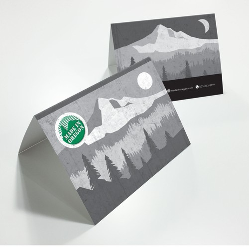 Card design as attachment for gift packages
