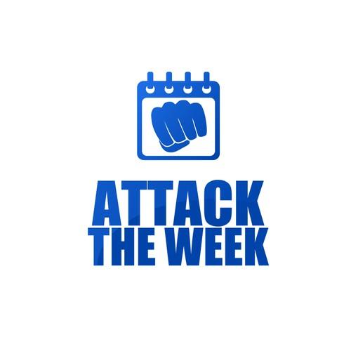 Logo concept for a motivational framework for planning the week.