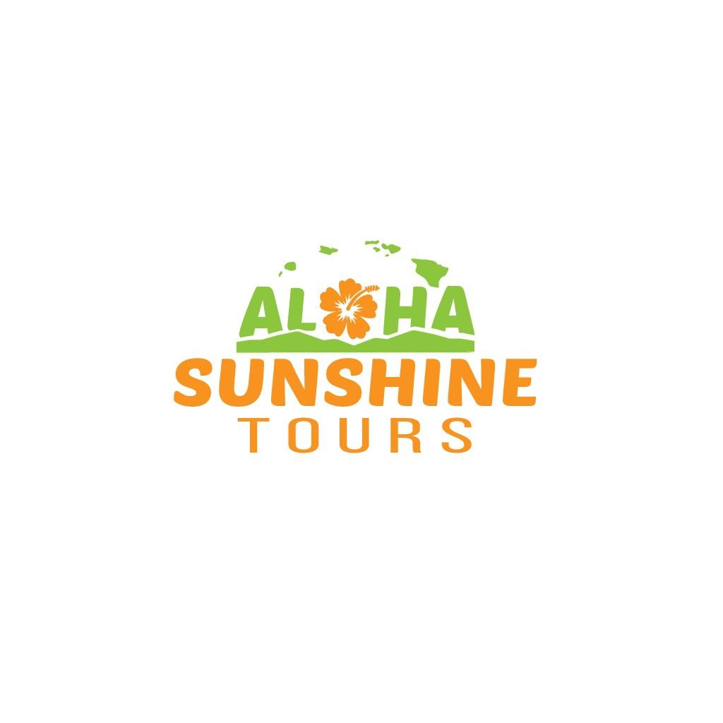 Logo with Aloha for Aloha Sunshine Tours