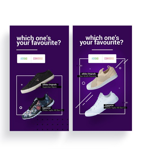 Animated banner for Footway online shoe store