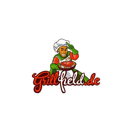 grill held logo consept