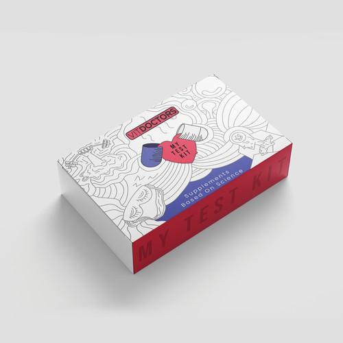 Test Kit Packaging Design