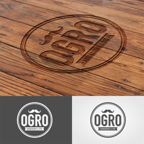 OGRO BARBERSHOP & BAR logo's