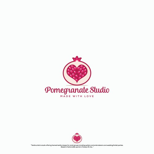 "Logo for ""Pomegranate Studio"""