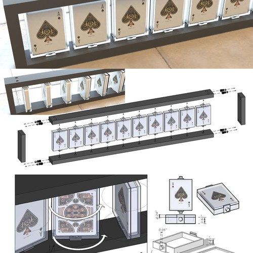 Engineer style drawings needed for playing card display racks!