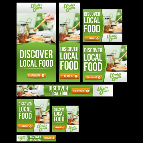 Design some digital ads for the Utah's Own local food movement!