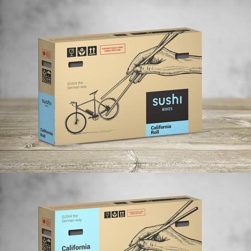 Box concept for a bicycle selling company