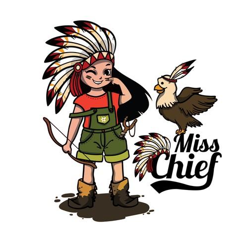 "Young girl's ""MissChief"" T-shirt brand"