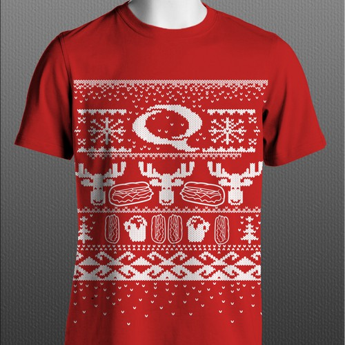 Quiznos Christmas Sweater