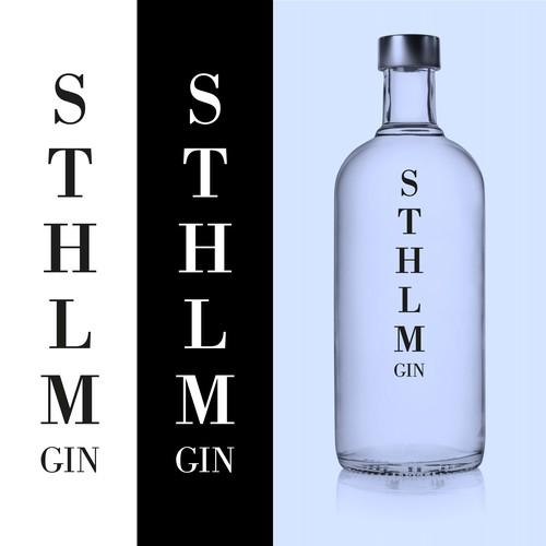 Logotype For Gin Bottle.