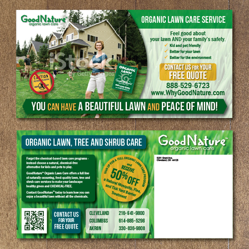Create a Large Postcard for Good Nature Organic Lawn Care - Make the world a better place!