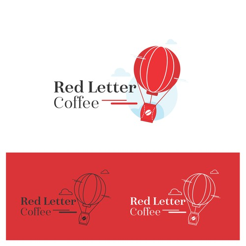 a fun logo for Red Letter Coffee