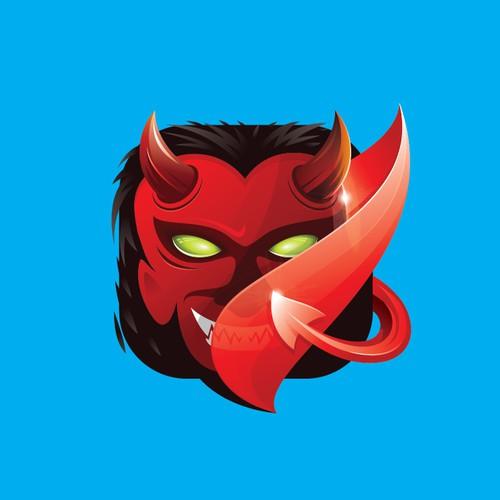 Devil Icon Logo