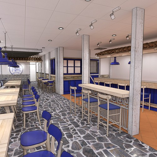 interior design - greek restaurant