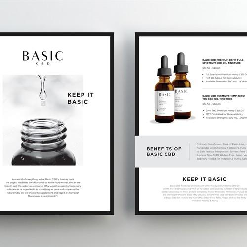 Modern, Clean & Luxury Flyer for Basic CBD Oil